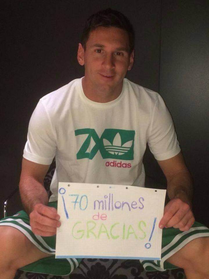 Messi Llega A 70 Millones De Likes En Facebook