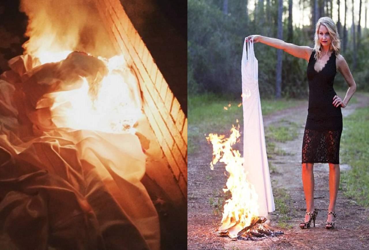 Que significa quemar vestido de novia