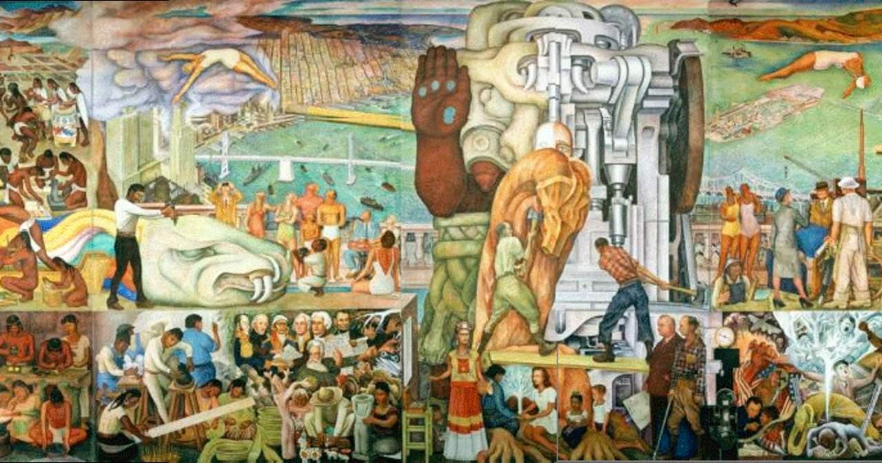 Exhibir n mural de diego rivera en san francisco for El mural pelicula online
