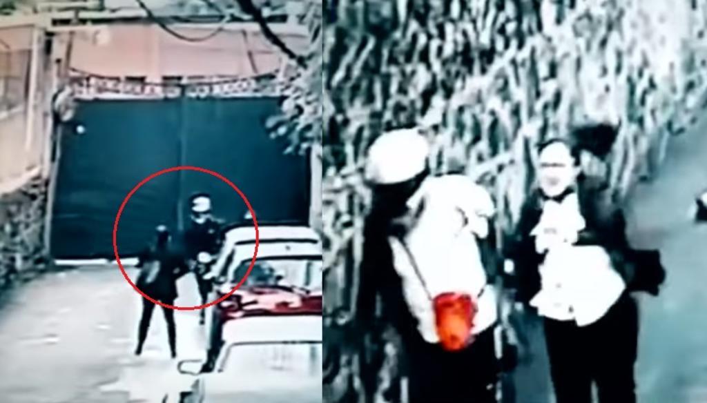VIDEO: Mujer persigue y golpea a sujeto que acababa de asaltarla