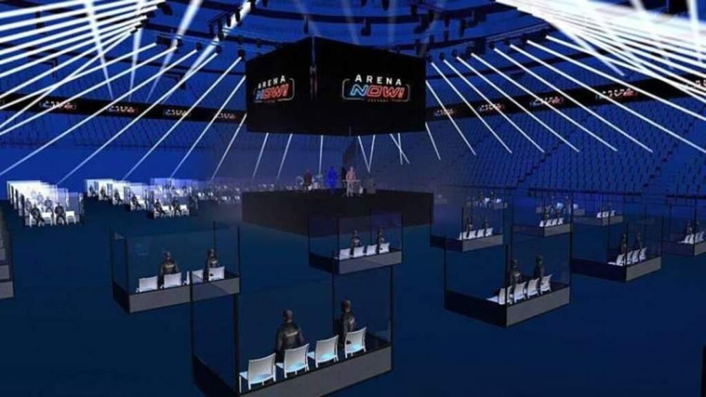 Mayor recinto de conciertos alemán separa al público en cubos transparentes