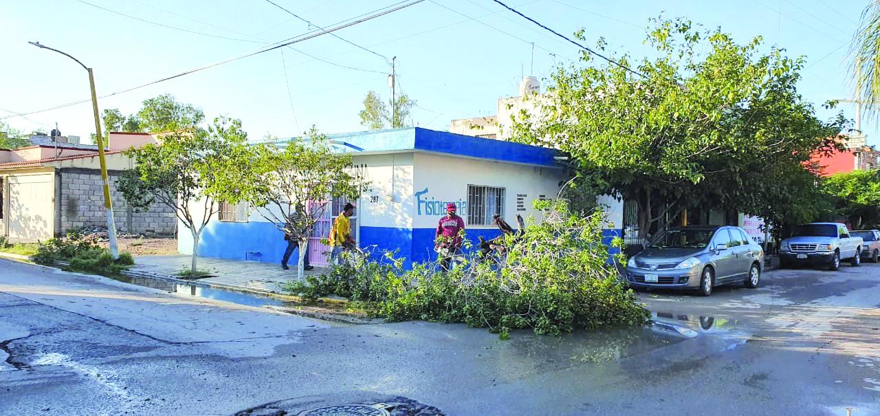 Reportan vivienda dañada por lluvias