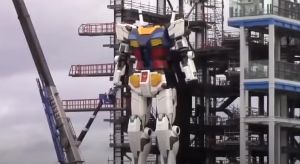 El 'Gundam' de la vida real; robot gigante da sus primeros 'pasos' en Japón