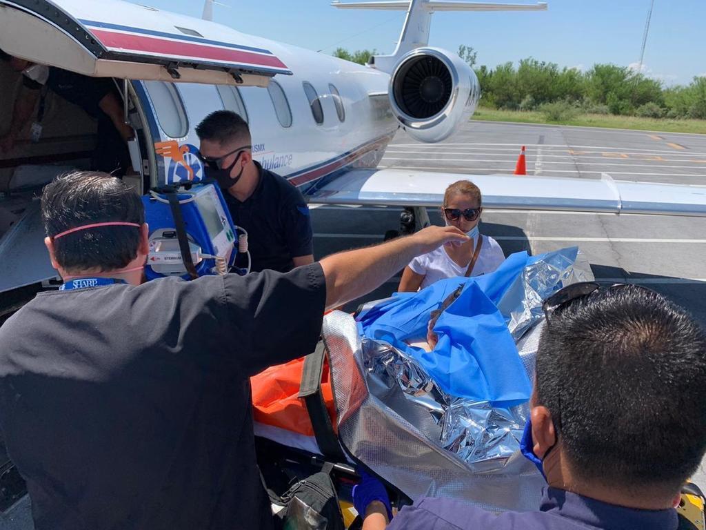 Trasladan a Texas a niño de Torreón que sufrió quemaduras en el 60% de su cuerpo