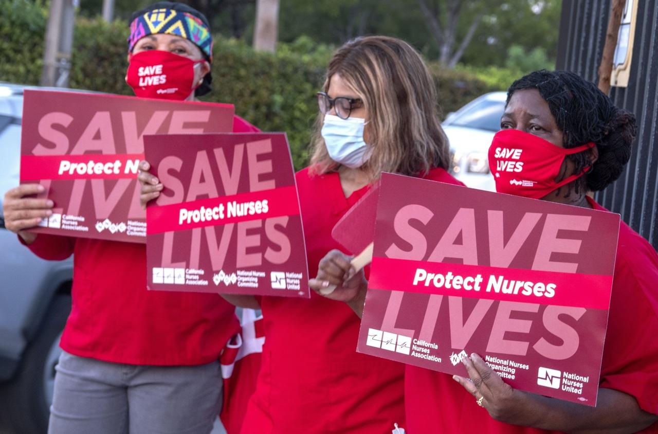 Enfermeras protestan en Miami por desprotección