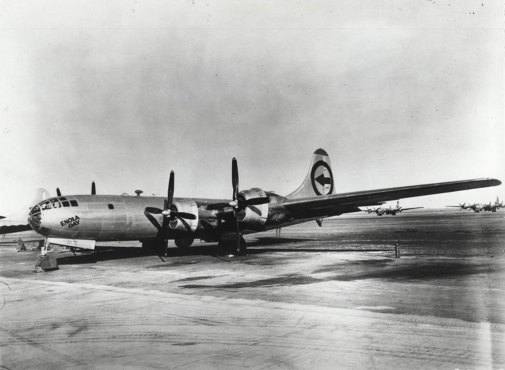 Enola Gay, el avión que lanzó la primera bomba atómica en Hiroshima
