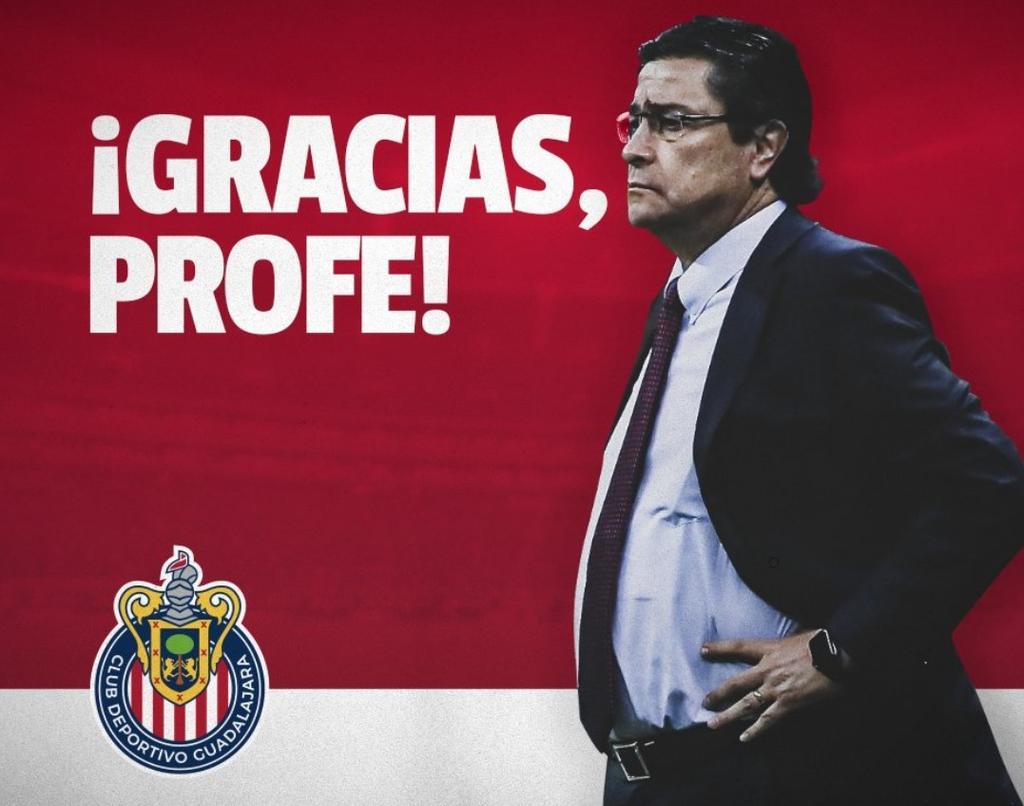 Chivas hace oficial la destitución de Luis Fernando Tena como DT