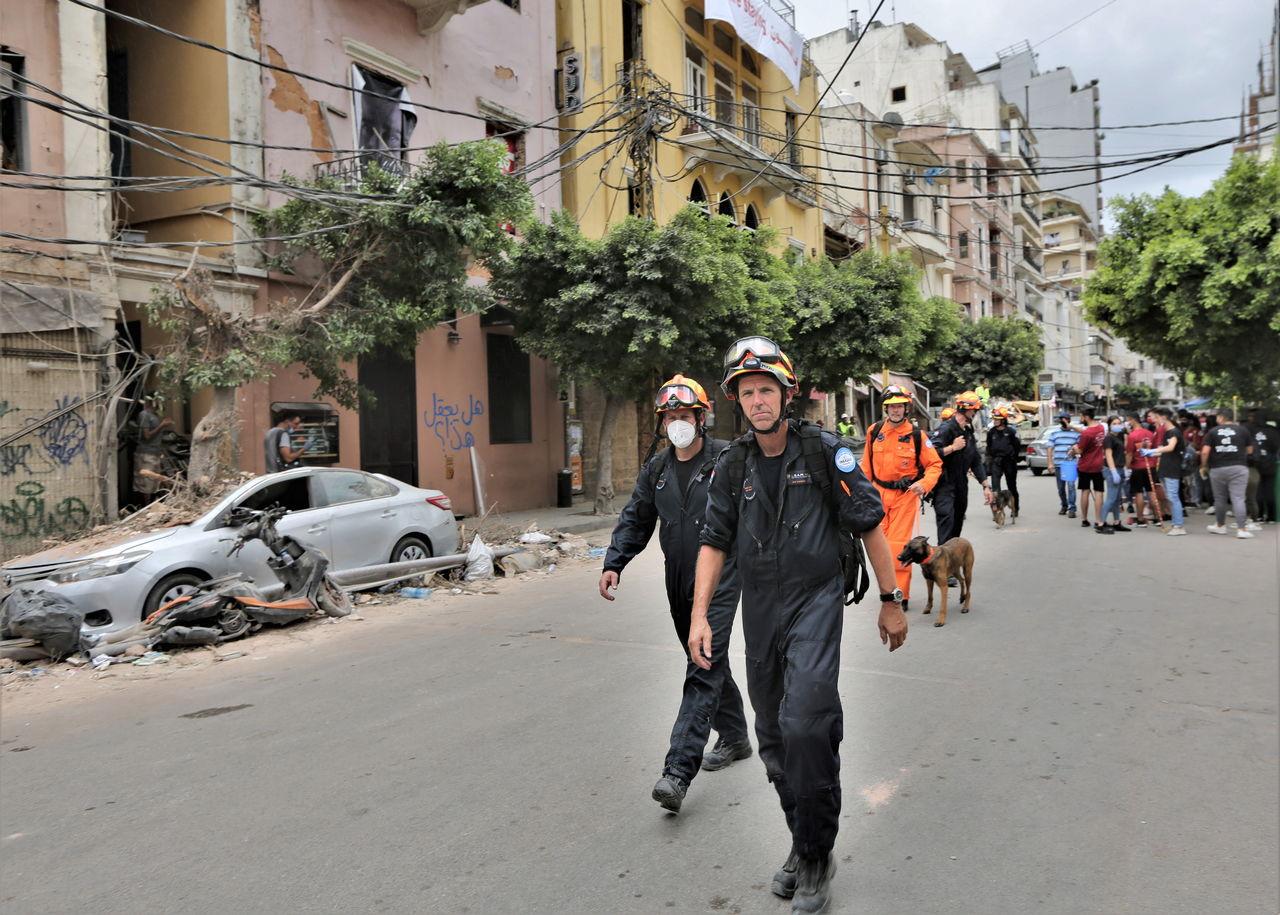 Concluye búsqueda de supervivientes  en ruinas de Beirut