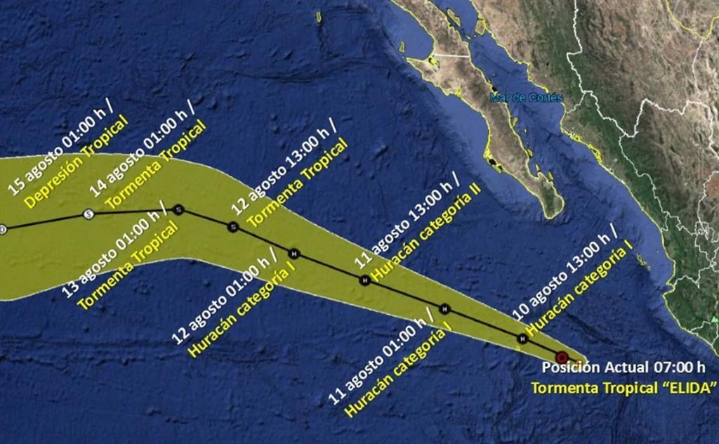 'Elida' se convertirá en huracán en el transcurso del día