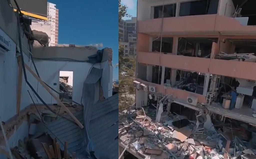 Dron muestra cómo quedaron los edificios de Beirut tras la explosión