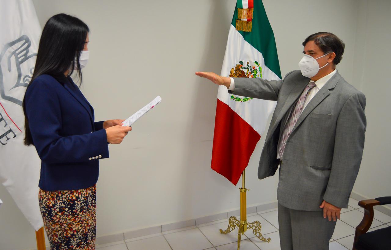 García Villanueva rinde protesta como subdelegado en el ISSSTE