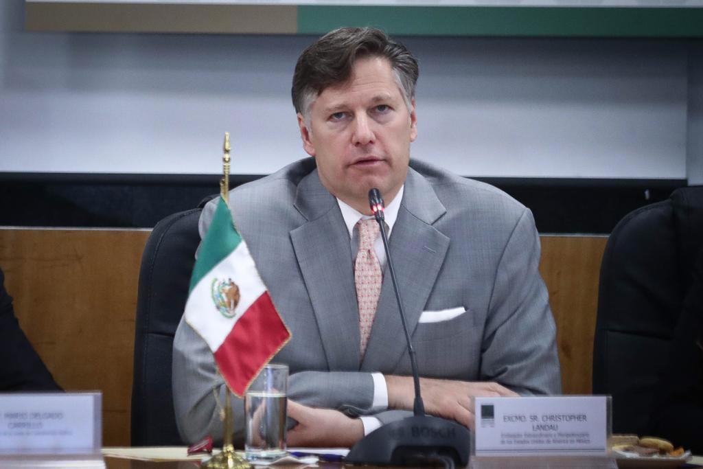 Embajador de EUA felicita a México por la celebración de su Independencia