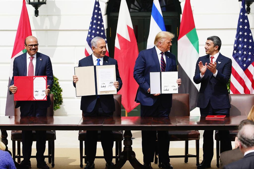 Firma Israel los Acuerdos de Abraham con Emiratos y Baréin en la Casa Blanca