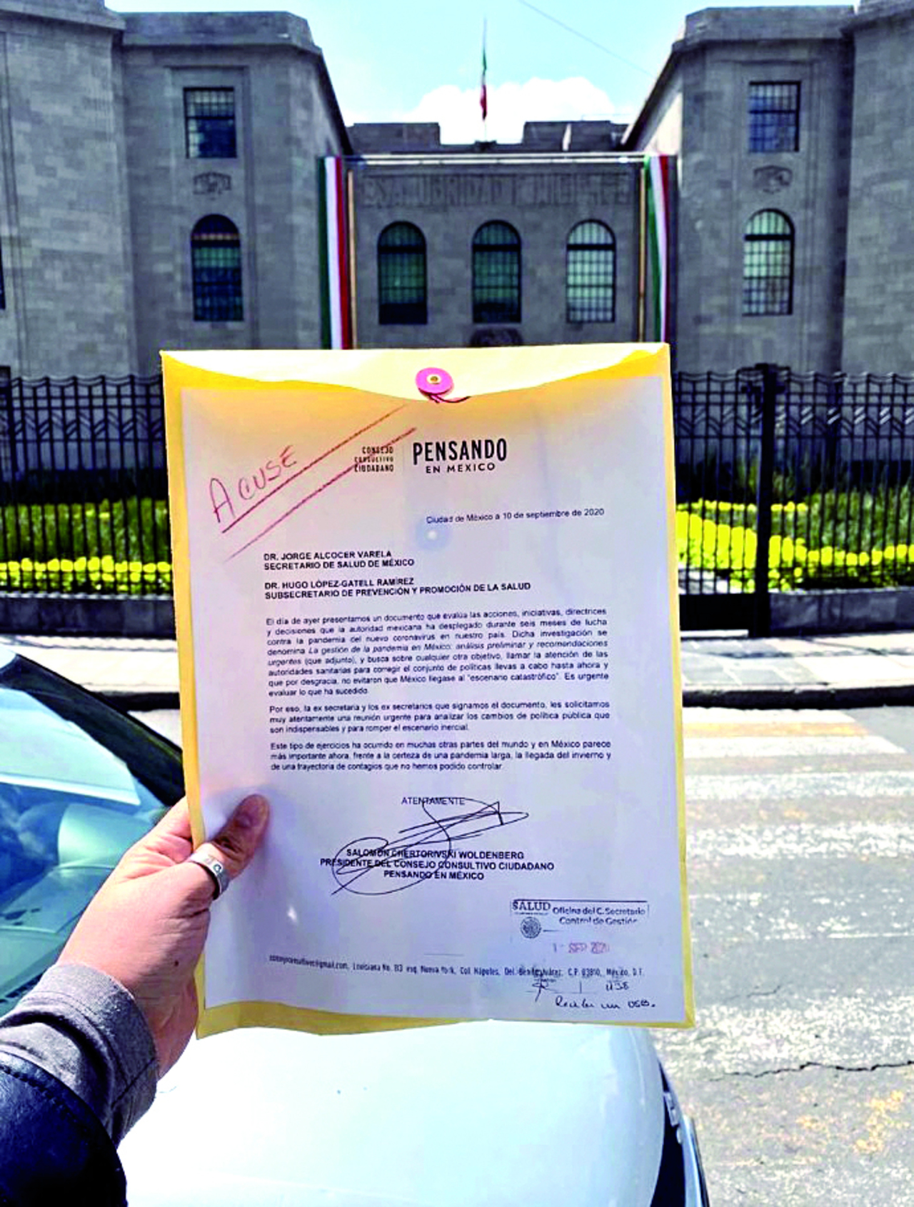 Exsecretarios de Salud dan el plan contra COVID a Secretaría