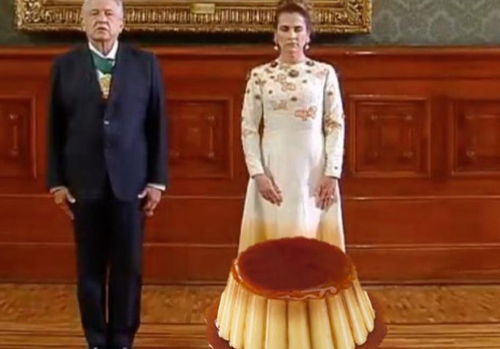 'Vestido de chocoflan'; tunden a Beatriz Gutiérrez Muller por su vestuario