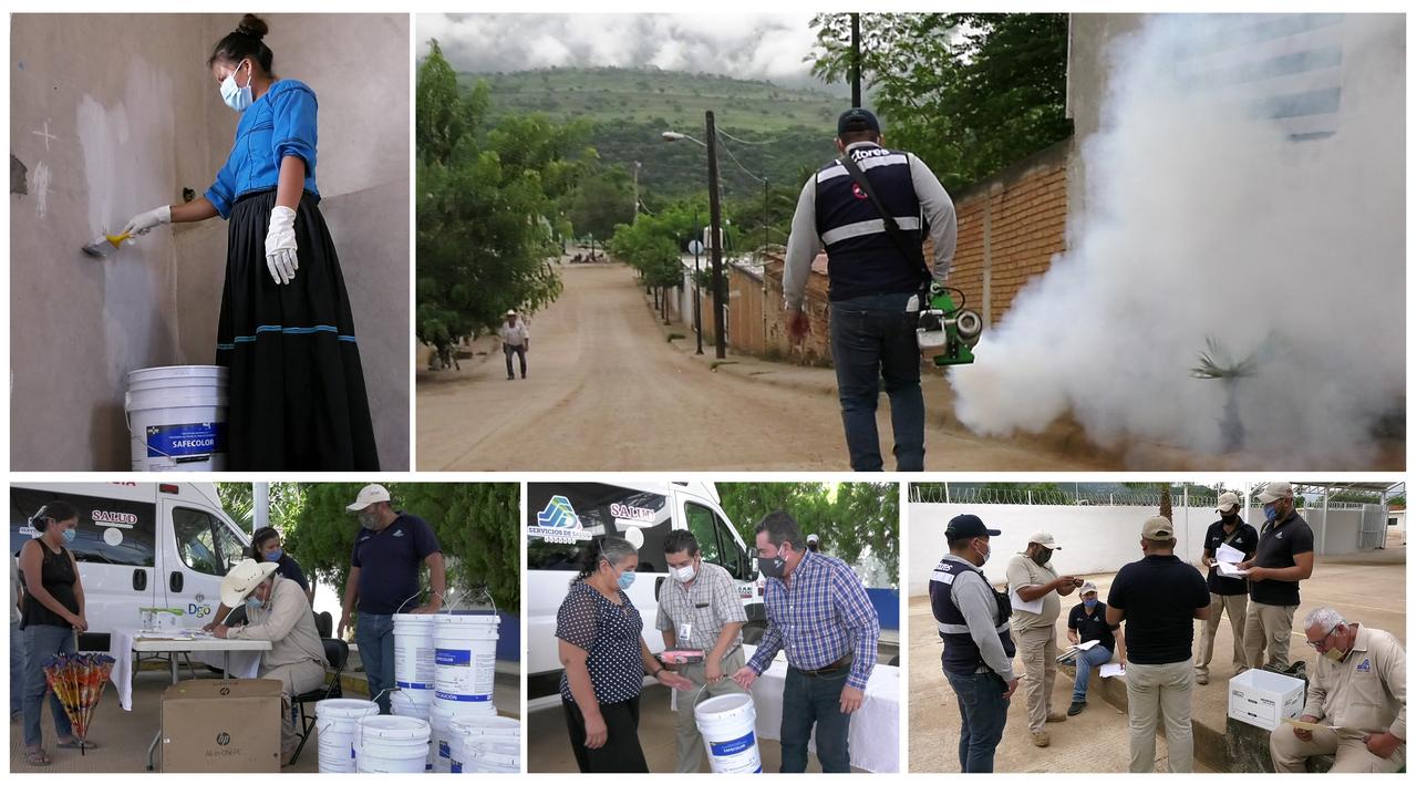 Refuerza Salud acciones contra el dengue en Mezquital