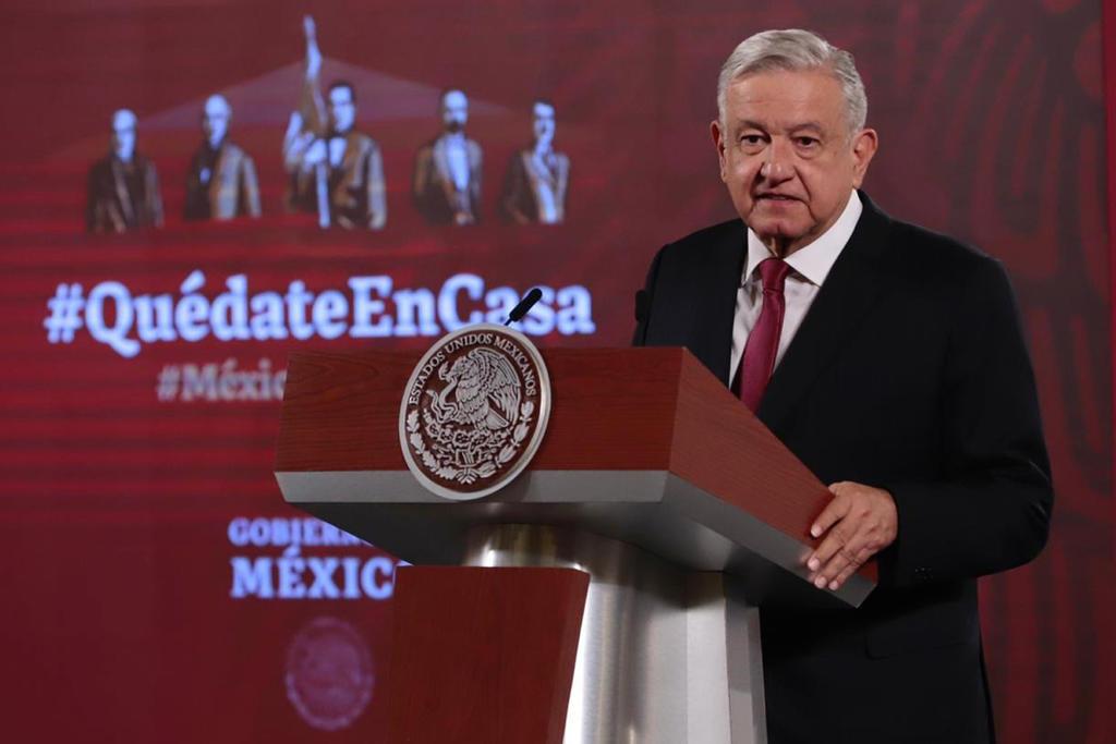 Asegura AMLO que la pandemia va a la baja y sin rebrotes en México