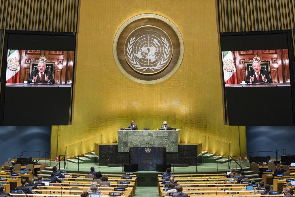 Incluye AMLO rifa de avión presidencial en discurso ante ONU
