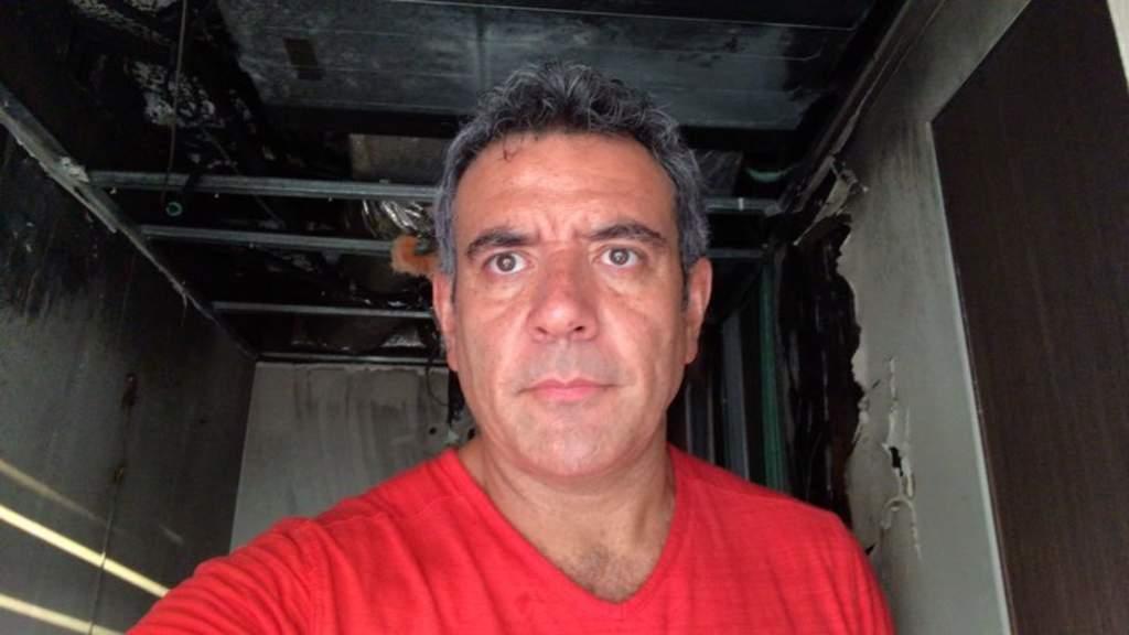 Se incendia departamento de Héctor Sandarti