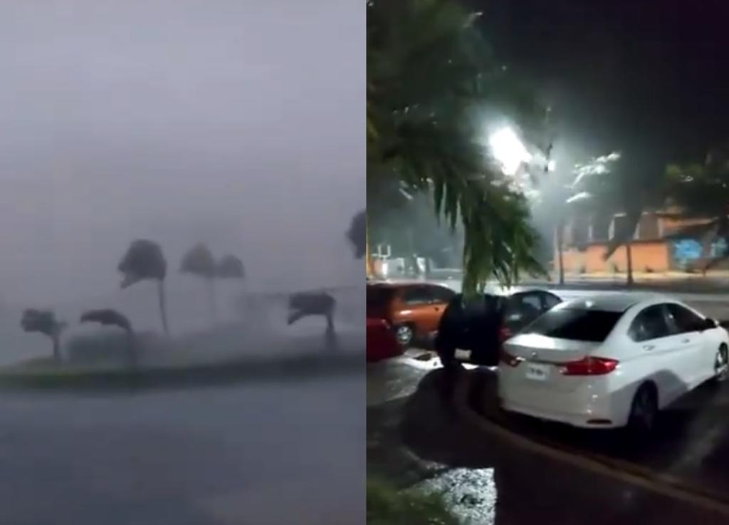 VIDEOS: Así se vivió el huracán 'Delta' en Quintana Roo