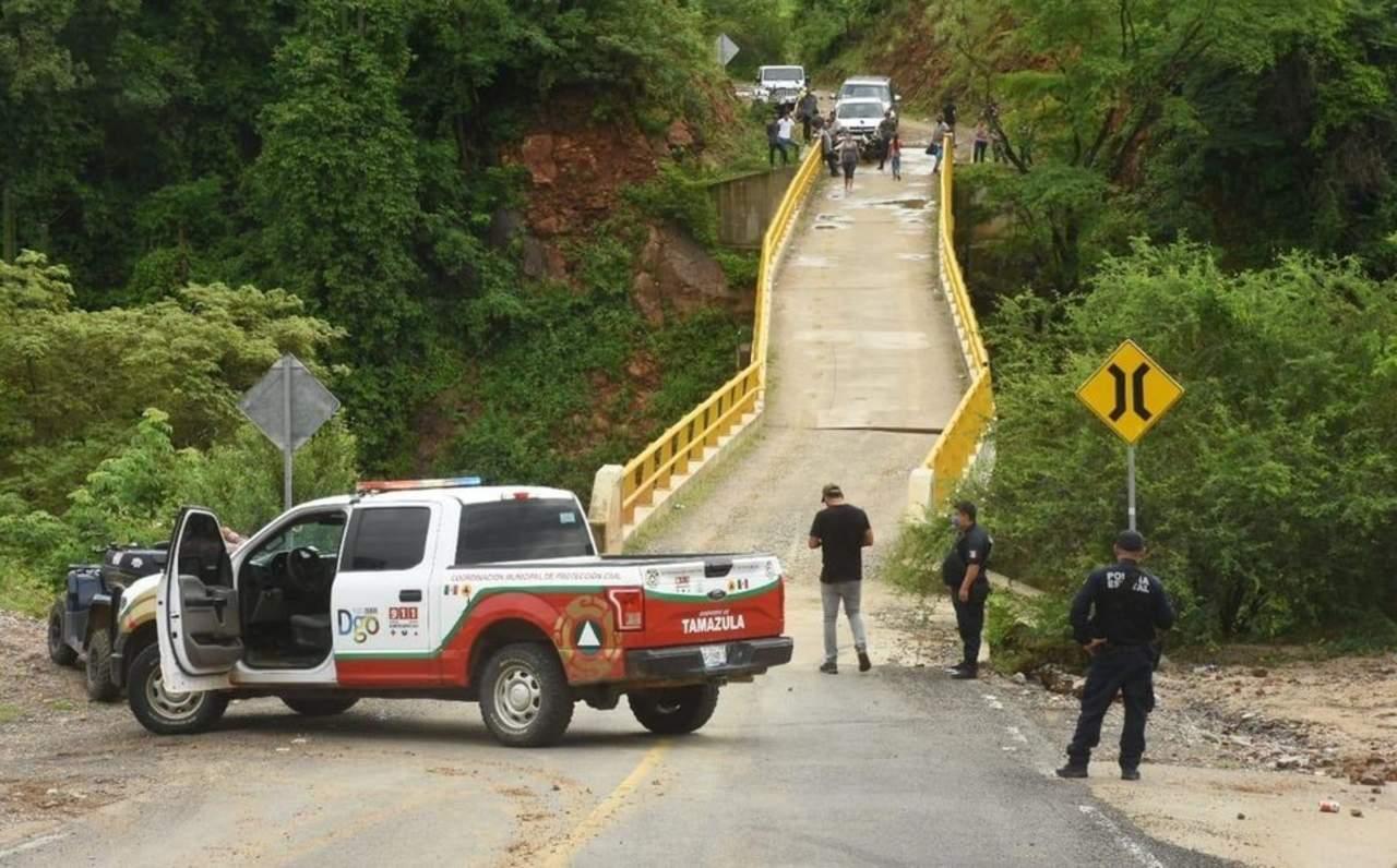 Puente Los Naranjos de Tamazula sigue dañado por las lluvias de septiembre
