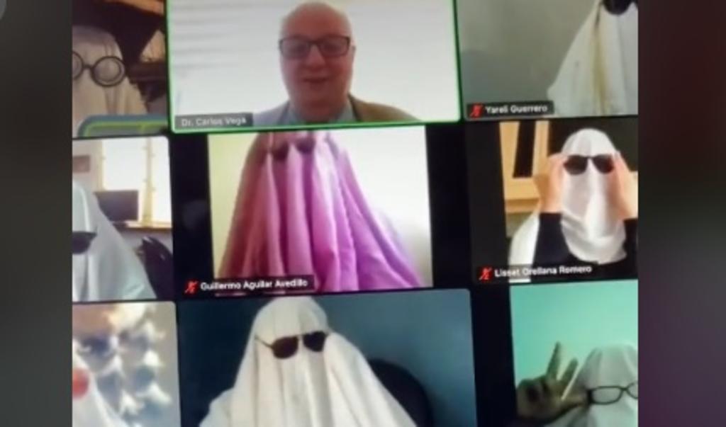 Estudiantes 'fantasmas' juegan broma a profesor durante clase en línea