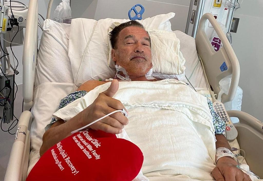 Arnold Schwarzenegger se recupera de una cirugía del corazón
