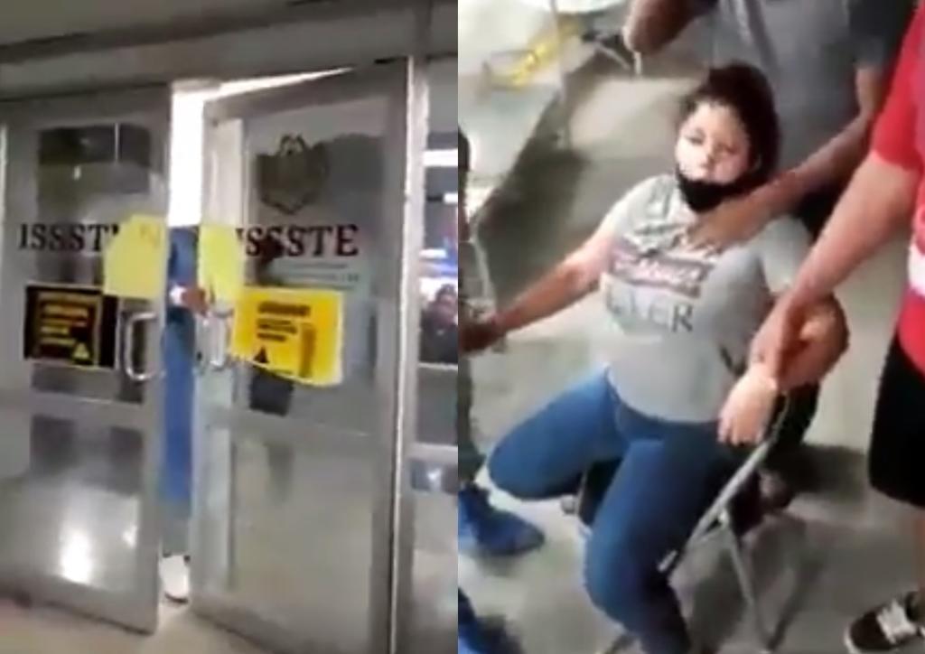 En ISSSTE de Gómez Palacio, 'cierran puertas' a mujer que se ahogaba 'por COVID-19'