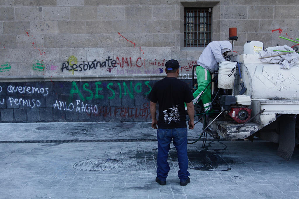 Gastan más de 200 mil pesos para reparar daños a Palacio Nacional