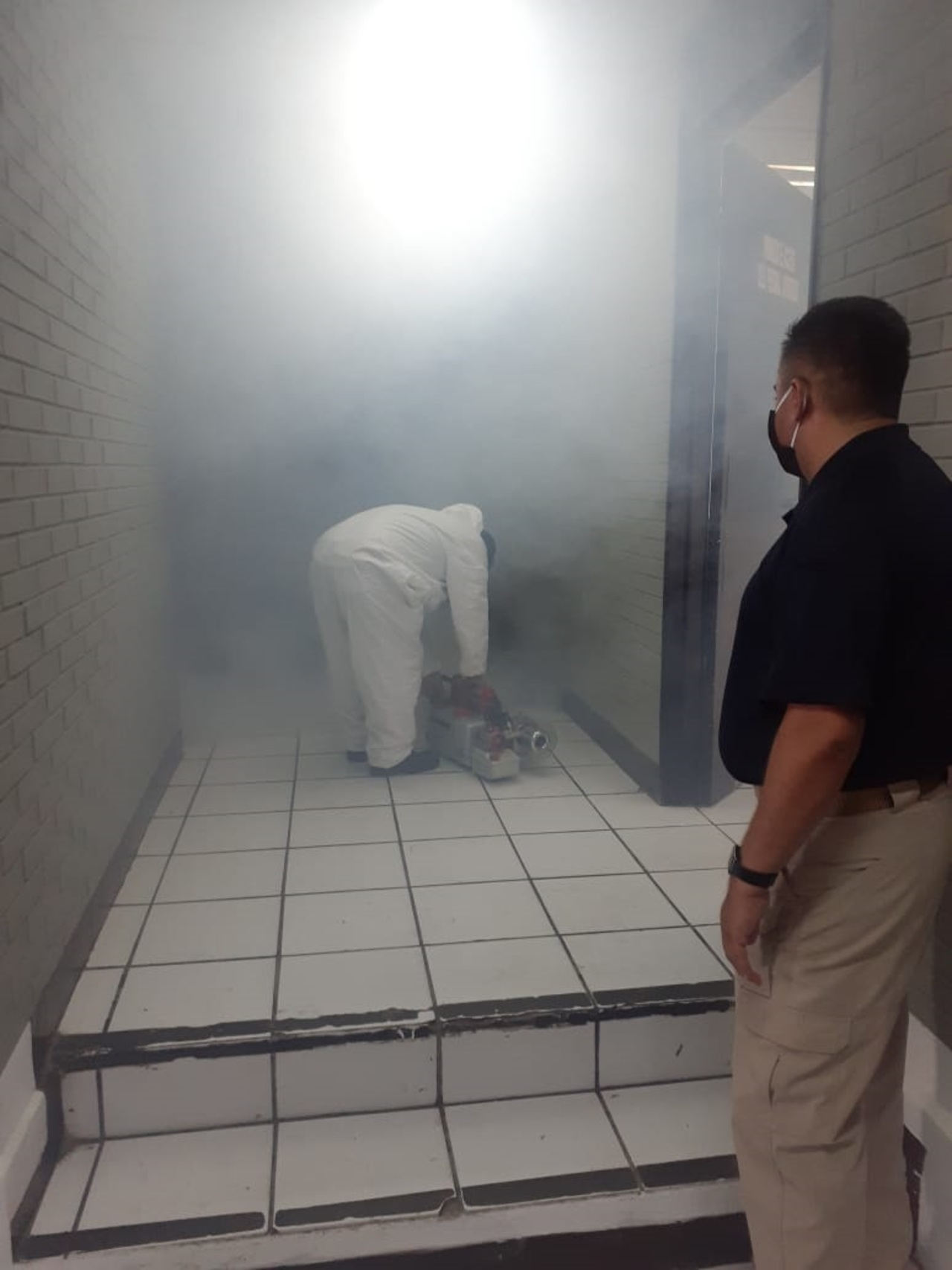 Desinfectan en GP distintas oficinas