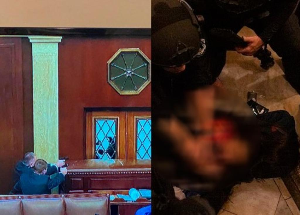 En el Capitolio, seguridad dispara a simpatizante de Trump en el cuello