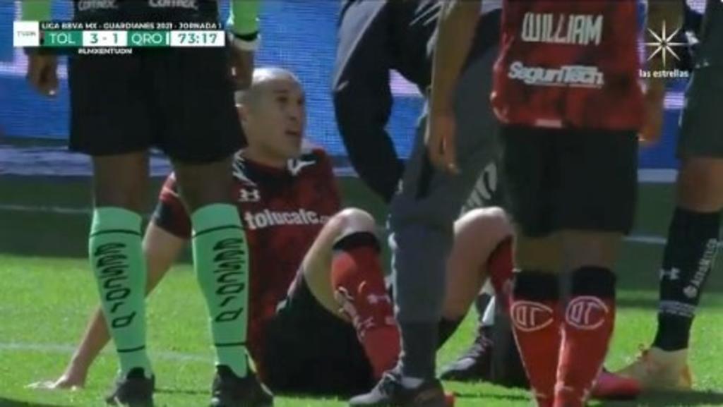 Jorge Torres Nilo se lesiona en su debut con Toluca