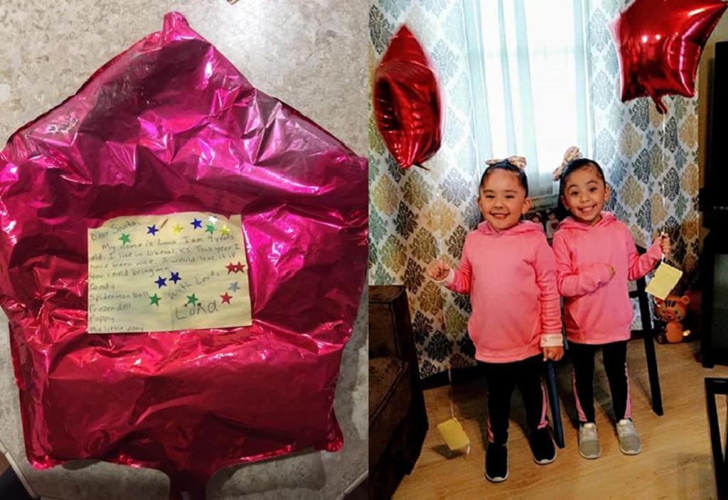 Encuentra globo con la carta de deseos de una niña y los cumple