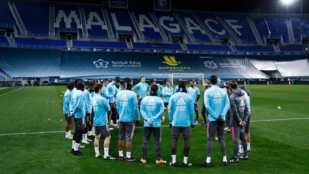 Real Madrid completa su entrenamiento para semifinal de Supercopa contra el Atlético