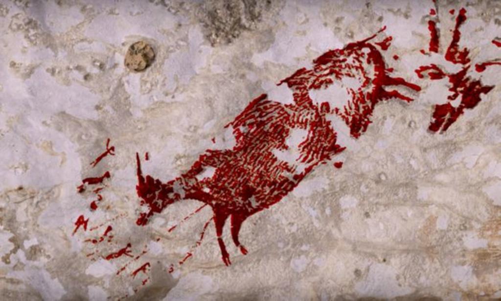 Descubren en Indonesia la pintura rupestre figurativa más antigua del mundo