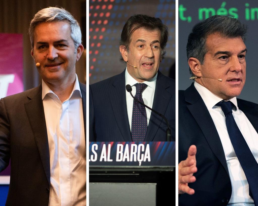 Joan Laporta, Víctor Font y Toni Freixa, candidatos oficiales a la presidencia del Barcelona