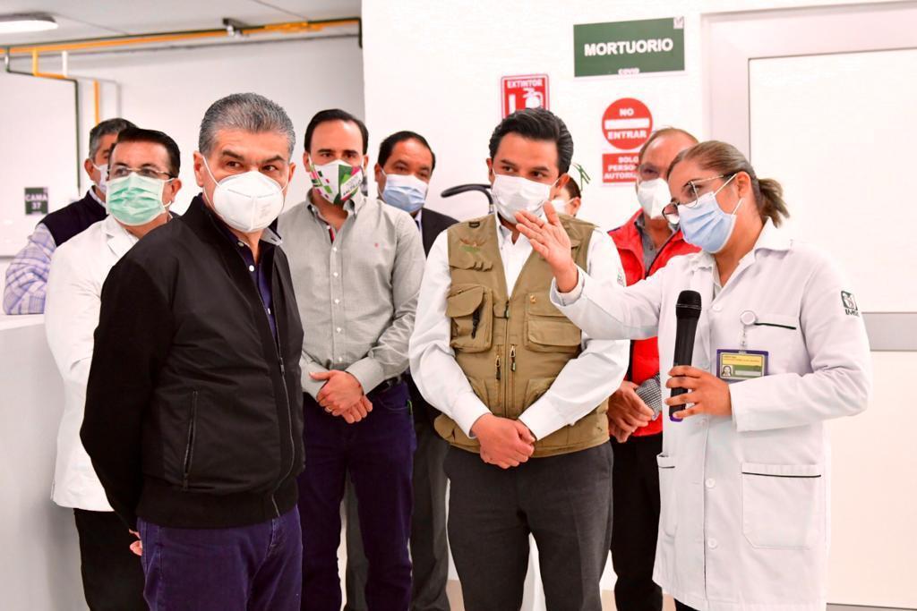 Trabaja IMSS en reconversión hospitalaria de Coahuila y Nuevo León