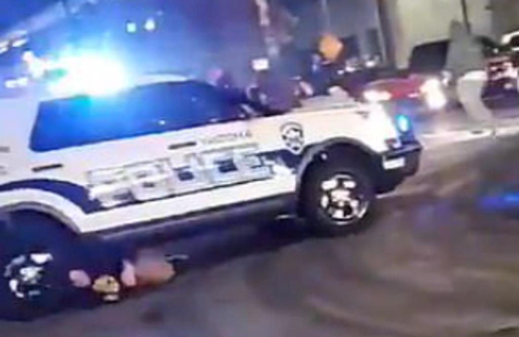 Patrulla de la policía de Washington atropelló a una persona
