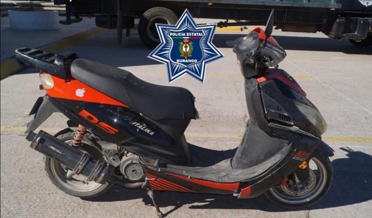 Encuentran en Pueblo Nuevo una motoneta robada en Durango