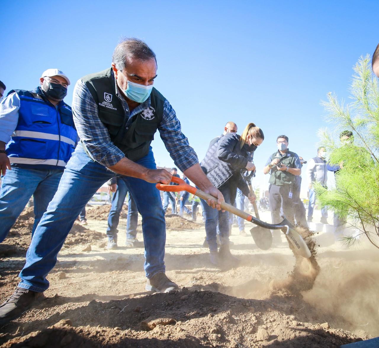 Con reforestación, inicia Municipio Dale un respiro a Durango 2021