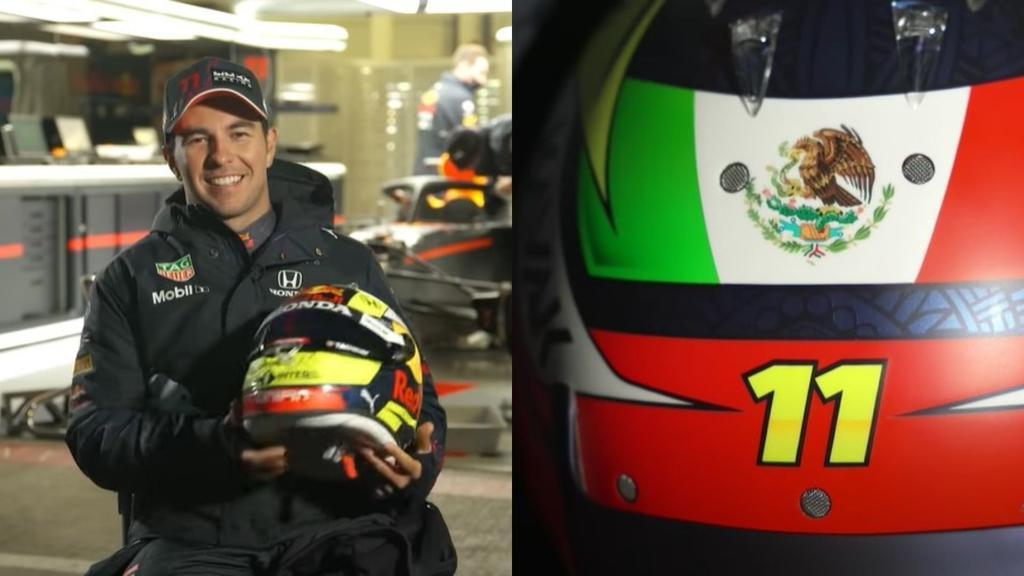 Sergio Pérez, el primer casco que llevará con Red Bull Racing