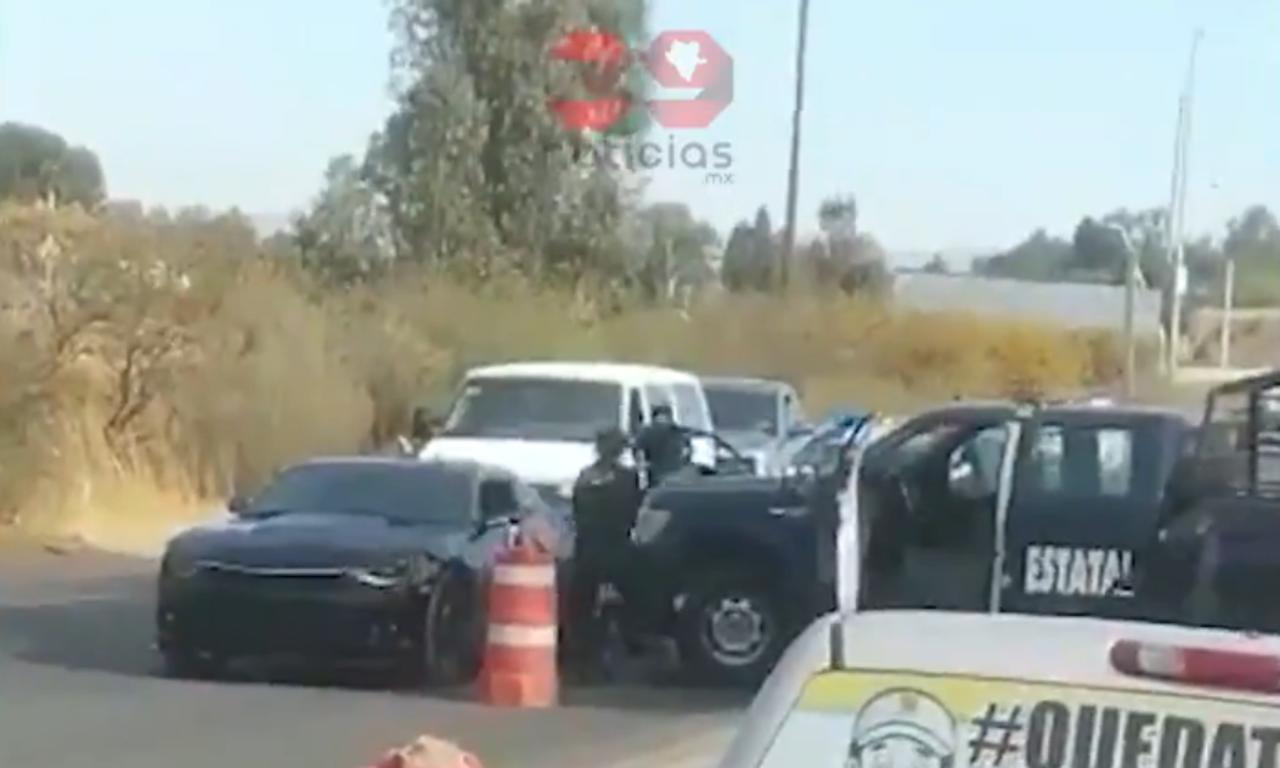 Graban momento exacto de la detención del homicida de Jardines de Durango