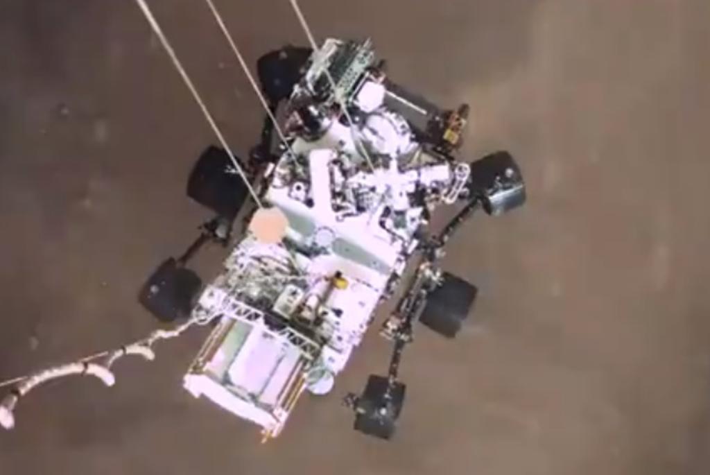 Video de Perseverance es el primero en mostrar el aterrizaje de una nave en otro planeta