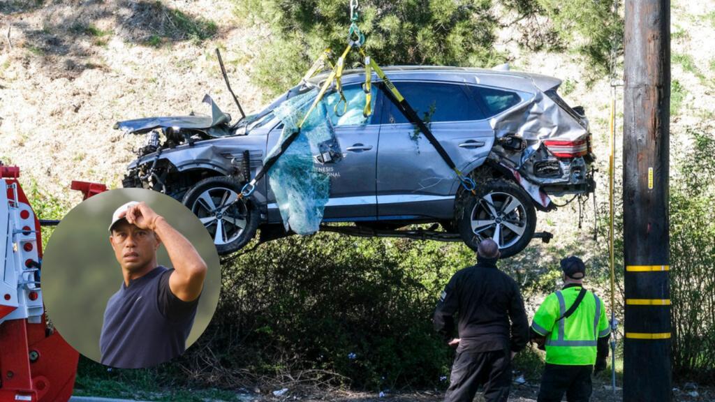 Woods viajaba a alta velocidad; lo rescataron consciente y herido: sheriff de Los Ángeles