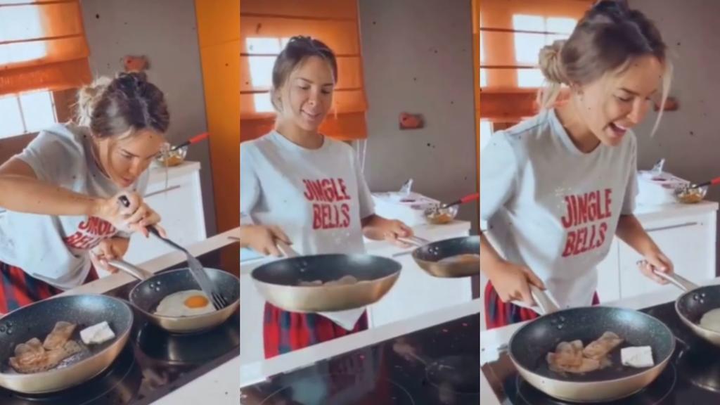 Belinda le cocina unos huevos a Christian Nodal