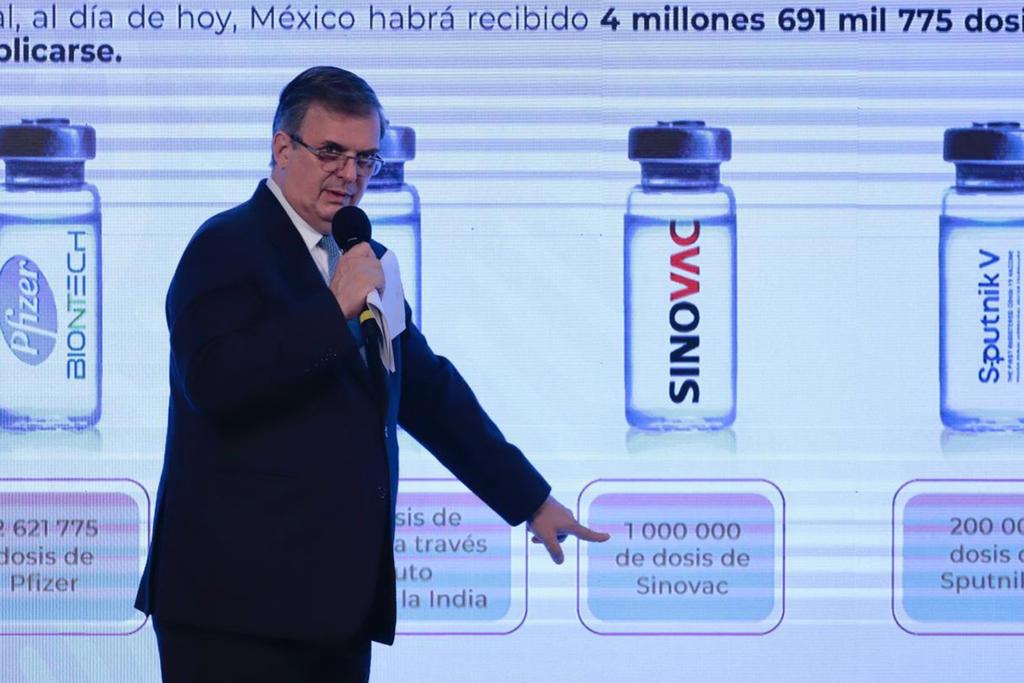 Ebrard anuncia llegada de más vacunas a México para la segunda quincena de marzo
