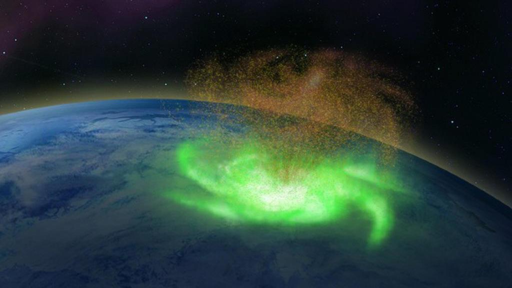 Captan huracán espacial girando sobre el Polo Norte