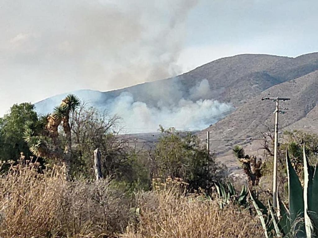 Combaten incendios forestales en Galeana, Nuevo León