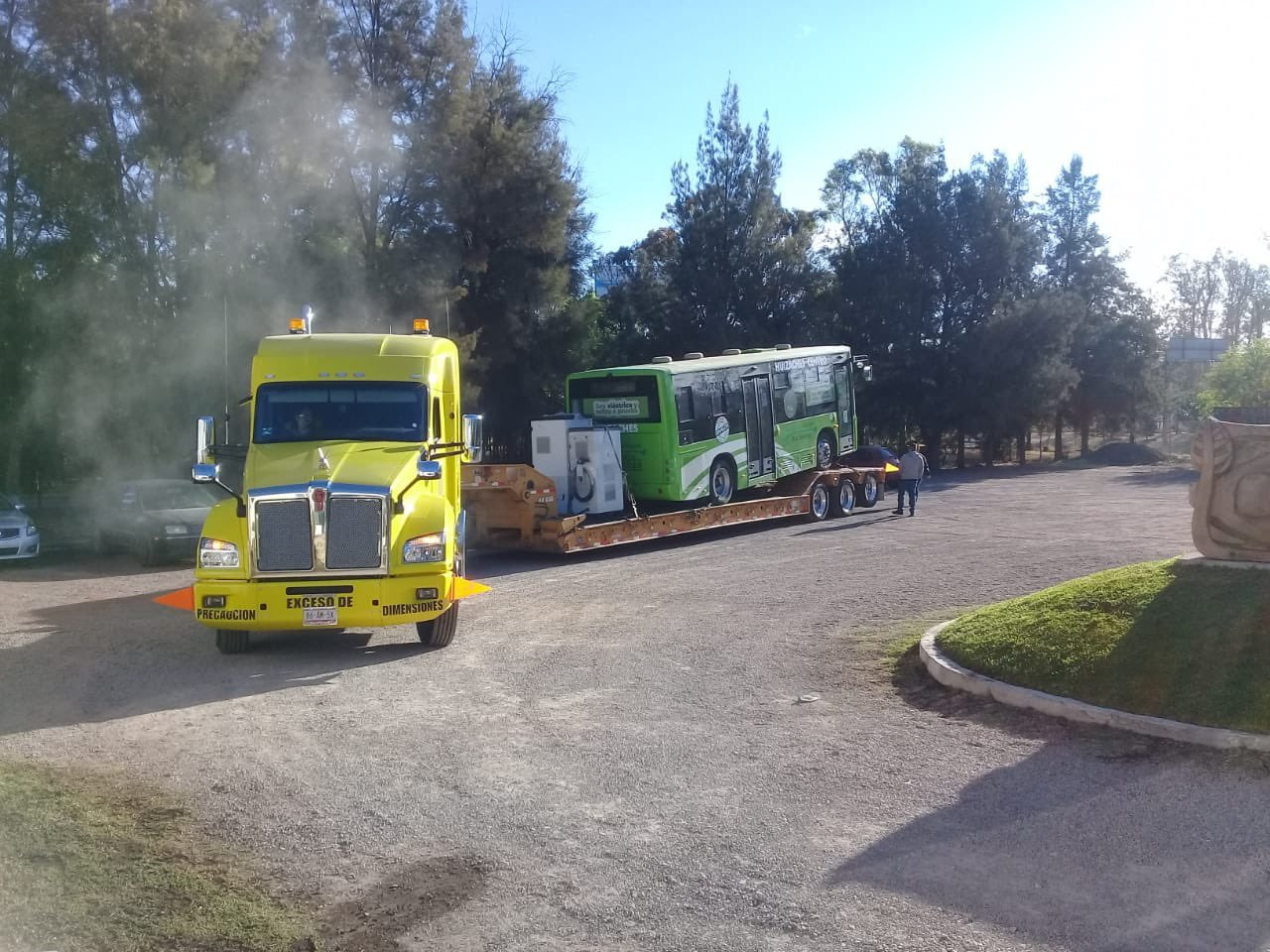 Llega a Durango autobús 'Balam', opera con electricidad