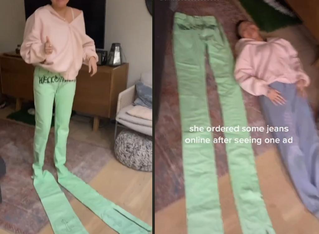 Compra pantalones por internet y 'claramente no son para humanos'